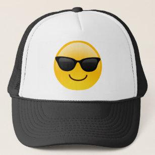9c261cb37c9c2 Smiling Face With Sunglasses Cool Emoji Trucker Hat