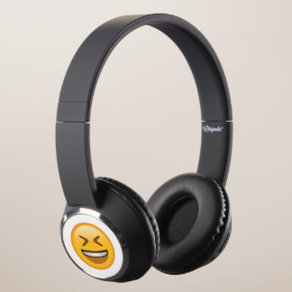 Smiling Face with Tightly Closed eyes - Emoji Headphones