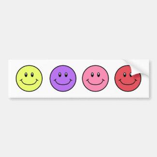 Smiling Faces Bumper Sticker YPPR 0001