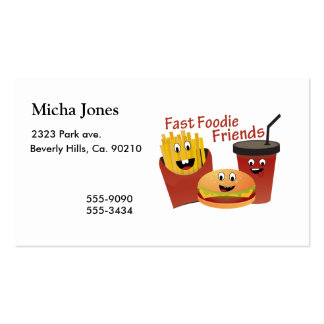 600 fast food business cards and fast food business card for Get business cards fast