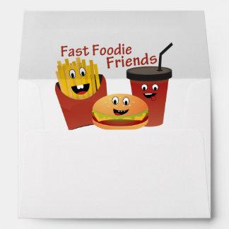 Smiling Fast Foodie Friends Envelope