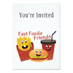Smiling Fast Foodie Friends Invitations