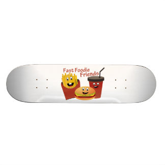 Smiling Fast Foodie Friends Skateboard
