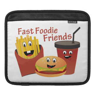Smiling Fast Foodie Friends Sleeve For iPads