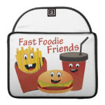 Smiling Fast Foodie Friends Sleeve For MacBook Pro