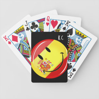 Smiling Flag of Spain Bicycle Playing Cards