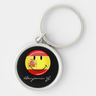 Smiling Flag of Spain Keychain
