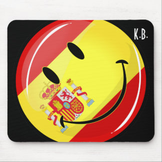 Smiling Flag of Spain Mouse Pad