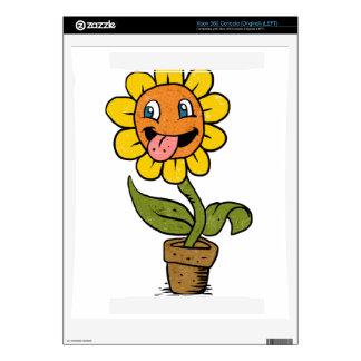 smiling flower cartoon xbox 360 decal