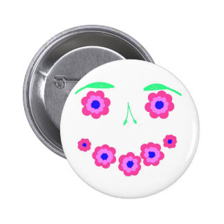 Smiling Flower Face Products 2 Inch Round Button