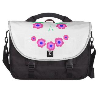 Smiling Flower Face Products Laptop Messenger Bag