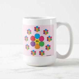 Smiling flowers all around mug.