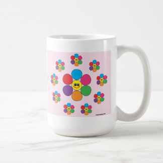 Smiling flowers all around mug. coffee mug