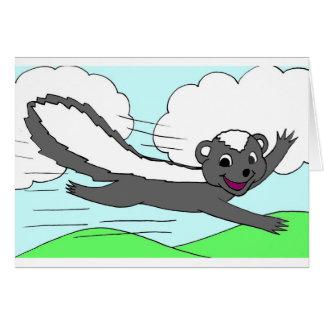 Smiling Flying Skunk Card