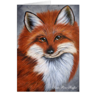 Smiling Fox Note Card