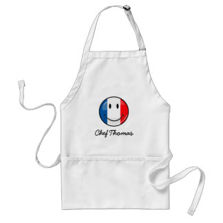 Smiling French Flag Adult Apron