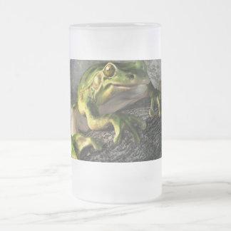 Smiling Frog Glass Beer Mugs