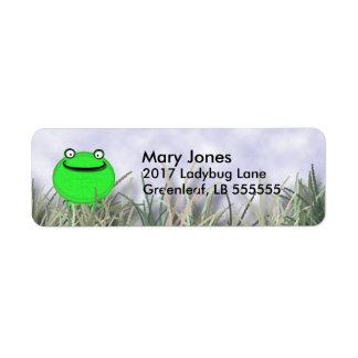 Smiling Frog Label