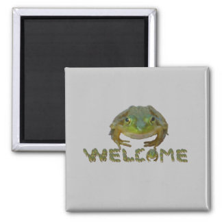 Smiling Frog Welcome Magnet