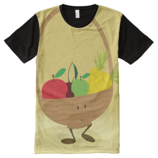 Smiling fruit and vegetable basket All-Over-Print T-Shirt
