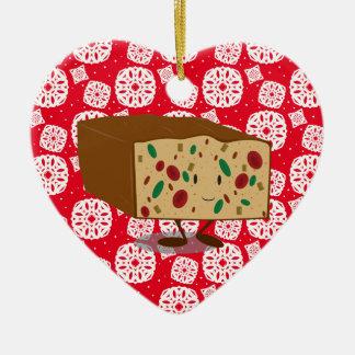 Smiling fruit and vegetable basket ceramic ornament