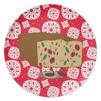 Smiling Fruitcake Melamine Plate