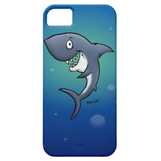Smiling Funny Shark on Blue Background iPhone 5 Cover