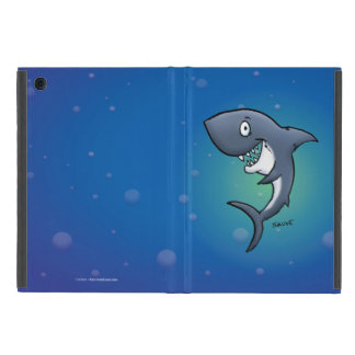 Smiling Funny Shark on Blue Background Cover For iPad Mini