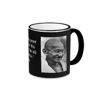Smiling Gandhi Ringer Coffee Mug