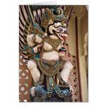 Smiling Garuda Statue Greeting Card