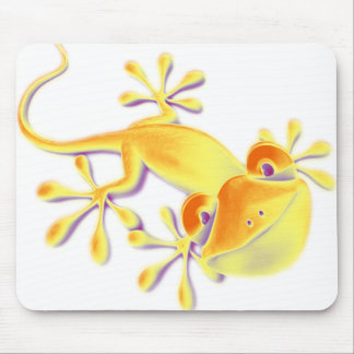 Smiling Gecko | make your own background Mouse Pad