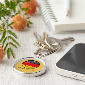 Smiling German Flag Keychain