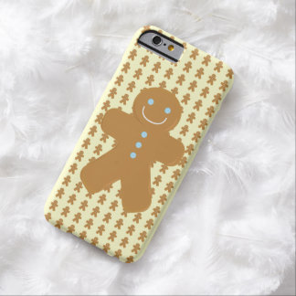 Smiling gingerbread man barely there iPhone 6 case
