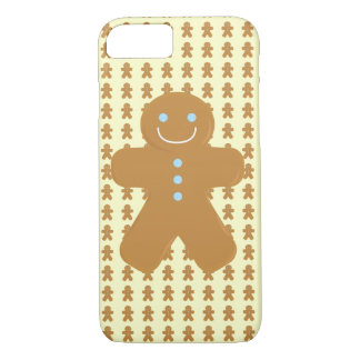 Smiling gingerbread man iPhone 7 case