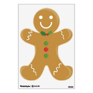 Smiling Gingerbread man Wall Graphics