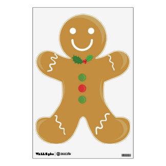 Smiling Gingerbread man Wall Graphics