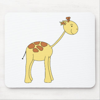 Smiling Giraffe. Cartoon. Mouse Pad