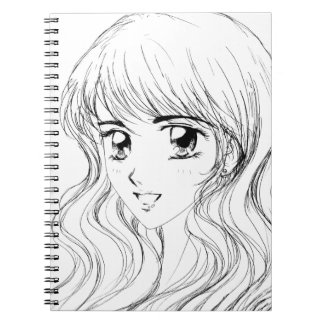 Smiling Girl - Manga Inspired Face Expression Spiral Notebook