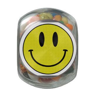 Smiling Glass Jar