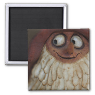 Smiling Gnome 2 Inch Square Magnet