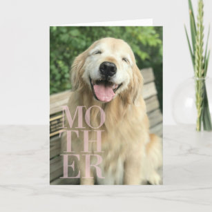 38d6aa9488bef Smiling Golden Retriever Dog Mother s Day Card