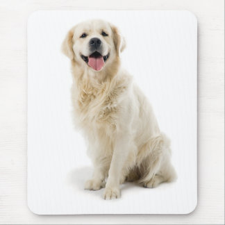 Smiling Golden Retriever Puppy Mousepad
