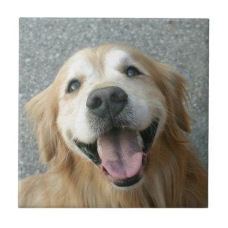 Smiling Golden Retriever Tile