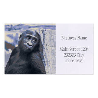 smiling gorilla baby blue business card
