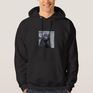 smiling gorilla baby blue hoodie