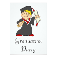 Smiling Grad Personalized Announcements