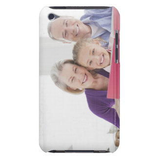 Smiling grandparents reading cookbook with iPod touch Case-Mate case