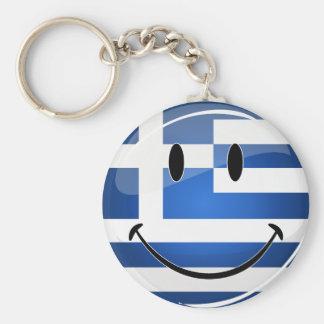 Smiling Greek Flag Keychain