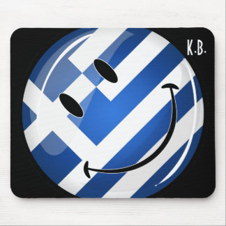 Smiling Greek Flag Mouse Pad