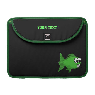 Smiling Green Fish Macbook Pro Sleeve